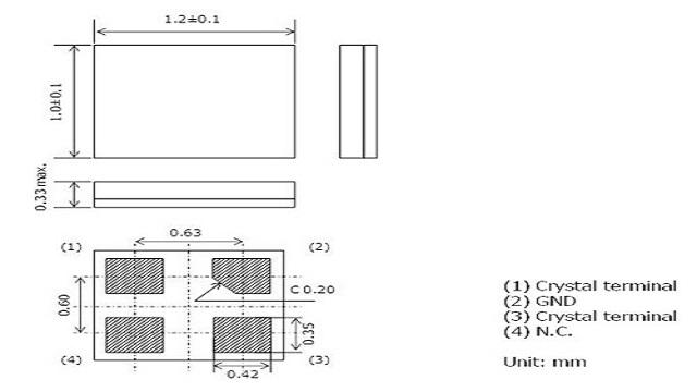 1.2x1.0mm, Crystal Unit
