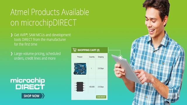 Atmel Products now available in Microchip's online store