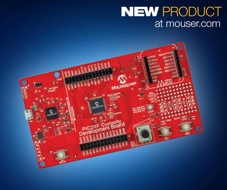 Shop At Mouser Microchip S 16 Bit Pic24f Curiosity Dev Board For