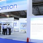 OMRON booth with the theme SENSING & CONTROL + THINK
