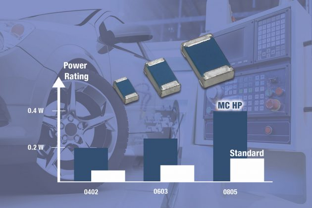 New High Power Thin Film Chip Resistors that will Lower the Costs and Save Space