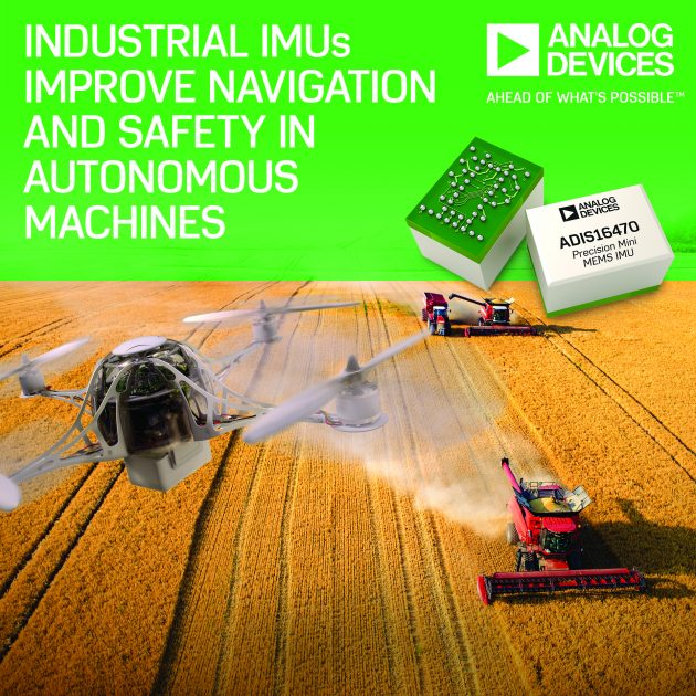 ADI's Industrial Inertial Measurement Units Improve Navigation and Reliability in Autonomous Machines