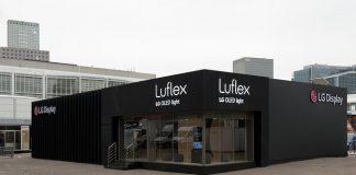 LG Display Luflex Booth at Light+Building 2018 in Frankfurt