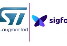 Sigfox Cooperate STMicroelectronics