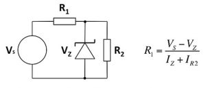 simple Zener regulator circuit