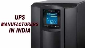 UPS Manufacturers in India