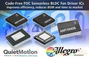 QuietMotion Family of Code-Free FOC Sensorless BLDC Fan Drivers