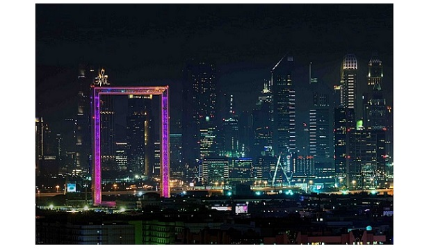 Dubai Frame Lights Up With Different Colors Ele Times