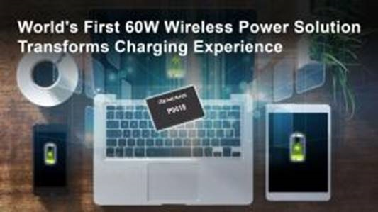 Renesas Unveils Industry's First 60W Wireless Power Receiver IC