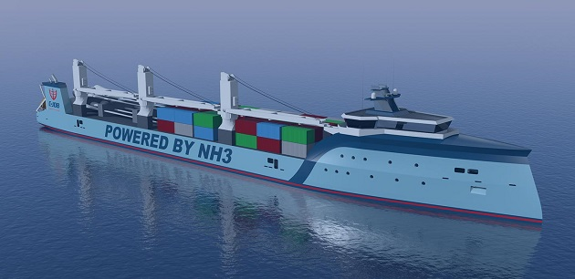 Ammonia-Powered Fuel Cell for Shipping