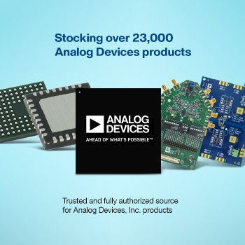 Mouser Electronics Stocks Wide Selection of Latest Analog Devices Products