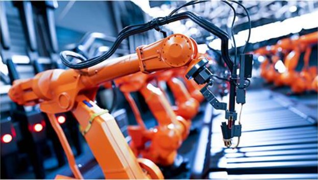 A stationary multi-axis industrial robot has to deliver different amounts of force in three dimensions in order to move objects of varying weights and coordinate its activities with other robots on the assembly line. (Image source: Texas Instruments)
